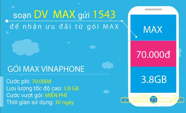 Hướng dẫn cách đăng ký gói MAX  Vinaphone