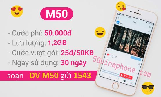 Hướng dẫn cách đăng ký gói cước M50 Vinaphone