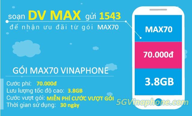 Hướng dẫn cách đăng ký gói cước MAx70 Vinaphone