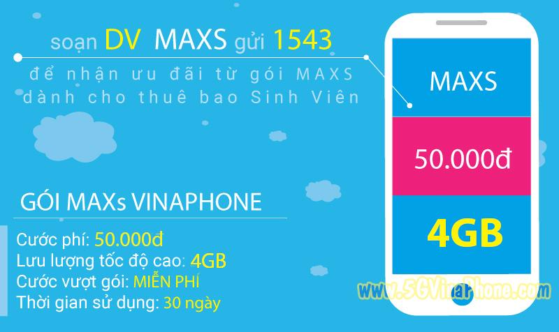 Hướng dẫn cách đăng ký gói cước MAXSV1 Vinaphone