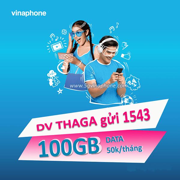 Đăng ký gói THAGA Vinaphone ưu đãi 102GB data tốc độ cao chỉ 50k/tháng