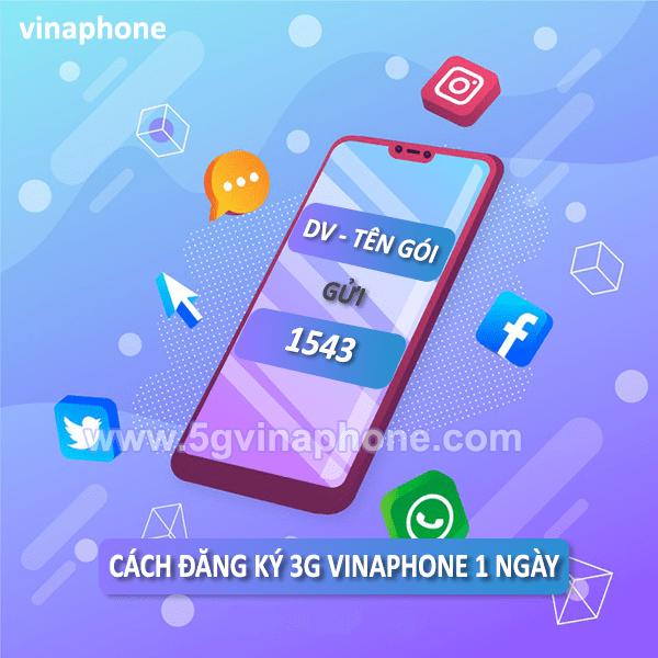 Đăng ký 3G Vinaphone 1 ngày giá chỉ từ 2k, 3k, 5k
