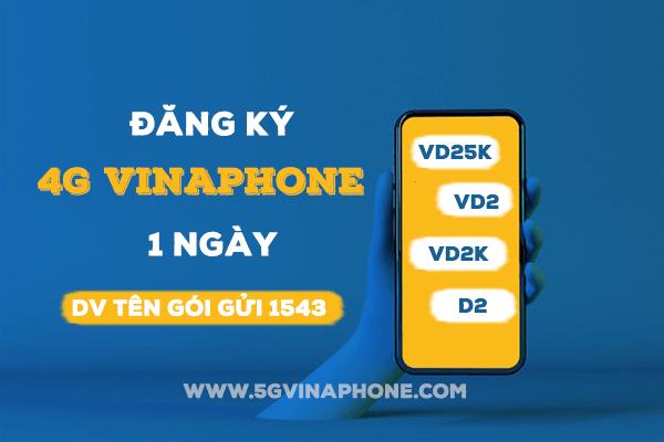 Đăng ký 4G Vinaphone 1 ngày giá rẻ chỉ từ 2k, 3k, 5k dùng thả ga 24 giờ