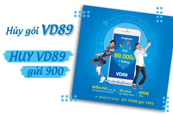 Cách hủy gói cước VD89 Vinaphone